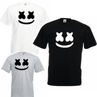 Marshmello T Shirt DJ Music Skin Game Gaming mens EDM Dance Festival Mask Vest