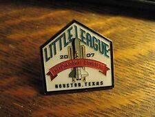 Little League Baseball 2007 International Congress Houston Texas USA Lapel Pin