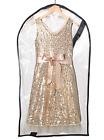 Children's Garment Bag, Infant, Child Clothing Protector Bag - Clear - Medium