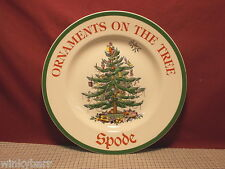 Spode China Christmas Tree S3324 Advertising Plate Ornaments On The Tree New