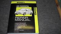2001 TOYOTA ECHO Service Repair Shop Workshop Manual Book OEM FACTORY
