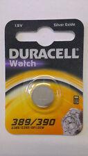 2 X389 390 Duracell Silver Oxide Watch Batteries 1.5v D389/d390/sr1130w Genuine