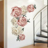 Peony Blossom Flower Wall Sticker Floral Home Decal Mural Room Decor 45.5*66cm