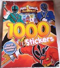 Power Rangers Samurai 1000 Sticker Book 75+ Puzzles Activities Rare Discontinued