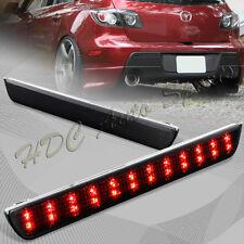 For 2004-2009 Mazda 3 JDM Smoke Lens LED Rear Bumper Reflector Brake Light Lamp
