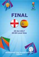 England v Spain 28.10.2017 U-17 World Cup in India. FINAL,12 pages. Unofficial