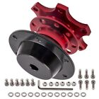New Red Steering Wheel Quick Release Hub Racing Adapter Snap Off Boss Kit