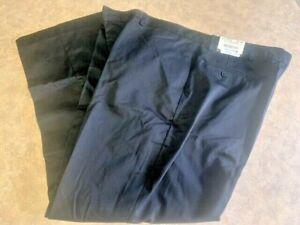Men's ~EDWARDS Flat Front Chino Black Utility Pants - 2577 - Size 52x32~ NEW