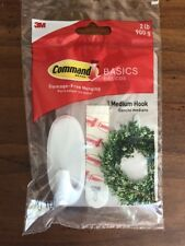 3M COMMAND BRAND Basic STRIPS Medium Round Hook 2lbs Hang Decorations  1 Package
