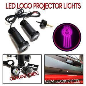 Lumenz C3 LED Logo Courtesy Door Lights Ghost Shadow Kenworth KW 100649 Pink