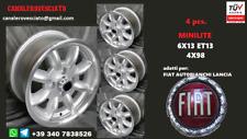 4 Cerchi Minilite 13 4x98 Fiat X1/9 124 127 128 500 600 uno panda 4x4 wheels