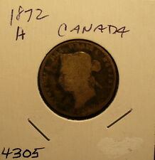 Silver Canada 25 Cents 1872A