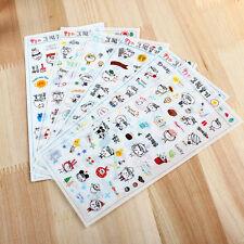 6 sheet cartoon diary Planner decorative cup photo calendar transparent stickers