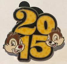 Disney Pin CHIP DALE 2015 Parks DATED Booster Set HEAD Face STARS and &