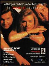 THE FABULOUS BAKER BOYS__Original 1990 Trade print AD / promo__MICHELE PFEIFFER