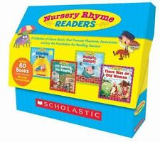 Scholastic Nursery Rhyme Readers TEACHING KIT 60 BOOKS, 12 Titles 054525020X NEW