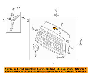 TOYOTA OEM-Grille Assembly Clip 7581933010