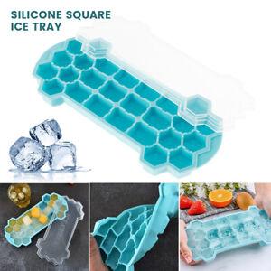 Stampo Silicone Vassoio Cubetti Ghiaccio Cucina Plastica Congelatore Domestico