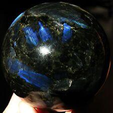 Rare 95 mm Finnish spectrolite (labradorite) sphere
