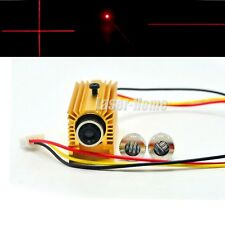 Focusable 650nm 5mW Red Laser Dot Line Cross Diode Module TTL 0-15khz + Heatsink