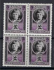 Luxembourg 1926 Sc# B15 Princess Jean 5c -perf 12.5x12 block 4 MNH