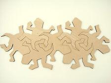 Set of 7 pcs. M. C. Escher inspired interlocking tiles Lizard from Veneered MDF