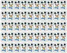 """50 Baby Mickey Mouse / Disney Babies Envelope Seals Labels Stickers, 1"""" x 1.5"""""""