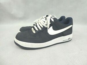 Nike Air Force 1 Men's Trainers Navy Blue White Size UK 10 Laces Used Condition