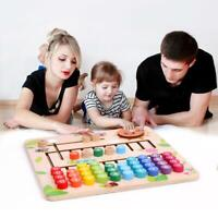 Baby Math Montessori Toy Wooden Counting Cognition Board Jigsaw Puzzle Learning