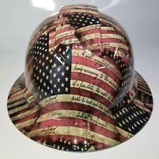 New Full Brim Hard Hat Custom Hydro Dipped American Patriot 2nd Amendment New