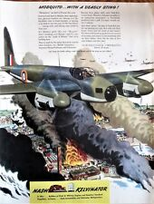 Mosquito Bomber Destroys Nazi Target WWII Ad