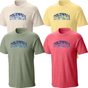 New Mens Columbia Sportswear Graphic Short Sleeve Shirt Top Tee Polo Big & Tall