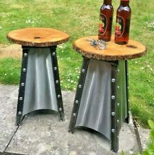 Two Patio Stools- Barbecue Seating- Chic Stools-Man Cave Seats-Garden