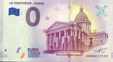 BILLET 0 EURO LE PANTHEON PARIS 2019-2