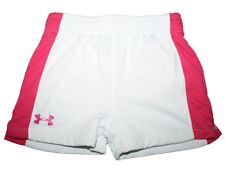 Girl Under Armour White Net Athletic Shorts Size 4