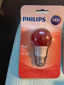 Philips Led 8w Bulbs..5 Bulbs, Red, Blue, Orange, Purple, Green..