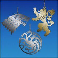 "Game of Thrones - 4"" Sigils Christmas Tree Ornament NEW Stark Targeryn Lannister"