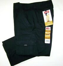 Men's Wrangler FLEX Cargo Pants Relaxed Fit Black Tech Pocket ALL SIZES 34-54