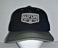 Salt Life Fishing Embossed Baseball Cap Cotton Black Size Fits Most cd8d6d9a3bdc