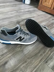 New Balance 565 Walking /Running Shoes ML565LGR Gray/Black/Blue Men's Size 12