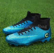 Men's Soccer Shoes Football Sneakers Cleats Outdoor Soccer Boots High Top Casual