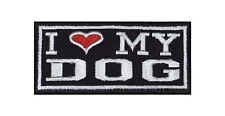 I Love My Dog Hund Tier Heavy Rocker Patch Aufnäher Bügelbild Kutte Badge T142