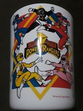 1994 Saban Mighty Morphin Power Rangers White Plastic Trash Can