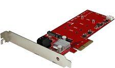 ⚡ StarTech 2x M.2 NGFF SSD RAID Controller Card plus 2x SATA III PEXM2SAT3422