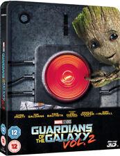 Guardians of the Galaxy Vol.2 - 3D & 2D Blu ray Steelbook - REGION FREE - Ltd Ed