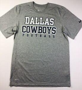 NEW Nike Dallas Cowboys Dri-Fit Shirt NFL Medium Gray Football
