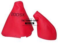 "Gear & Handbrake Boot For Nissan 200SX S14 Silvia 1995-1998 2 panels ""200SX"" Log"
