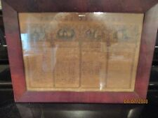 Antique Family Register, Fords, 1820's, 16 1/2 x 12 Inches, Historic Document