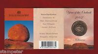 2002 Year of the Outback $1 unc Coin - Melbourne Mint Mark