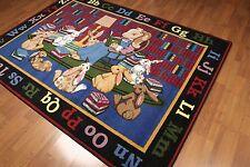 5' x 7' Contemporary Alphabets Area rug AOR7425 - 5x7 Red